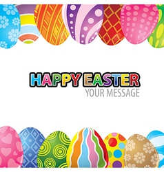 Easter egg background vector image