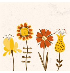 Floral background in bright colors vector image vector image