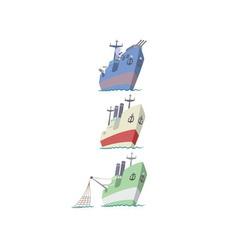 flotilla vector image vector image