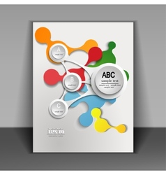flyer with infographics vector image