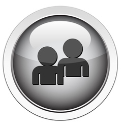 forum buddy icon vector image vector image