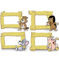 Frame with cartoon animal vector