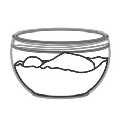 Glass container with flour vector