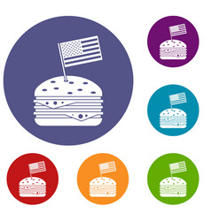 Hamburger icons set vector