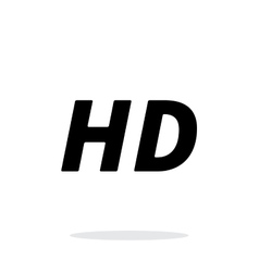 Hd quality video icon on white background vector