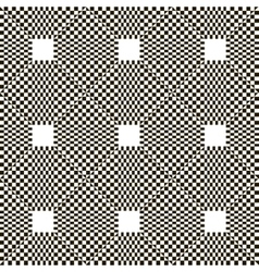 Monochrome chequered pattern with squares vector