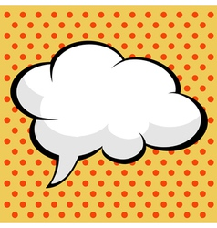 pop art comic speech bubble vector image vector image