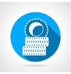 Round icon for tires vector