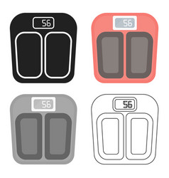 Scale icon in cartoon style isolated on white vector