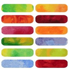Set of colorful watercolour banners vector image vector image