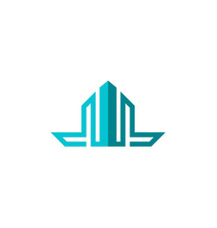 shape building logo vector image vector image