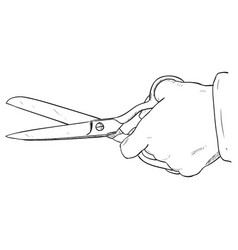 sketch of scissors vector image vector image