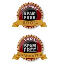 spam free icon vector image