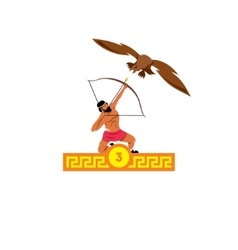 The third feat of heracles stymphalian birds vector