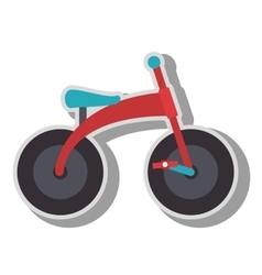 Toys for kids isolated flat icon vector image