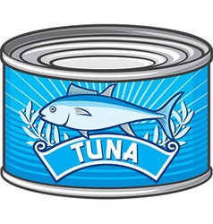Tuna can vector