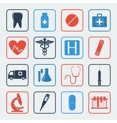 Medical icons set healthcare icons vector