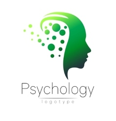 Modern head logo of psychology profile human vector