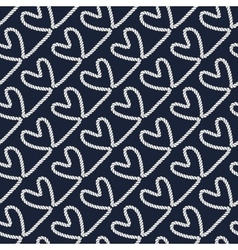 Seamless nautical romantic rope pattern vector