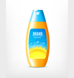 Design of sun protection cosmetic product vector