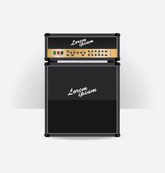 Guitar amplifier set vector