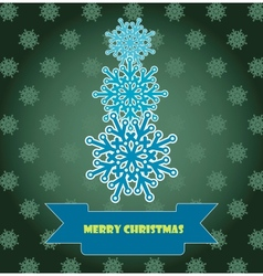 Christmas card with snowflakes vector image