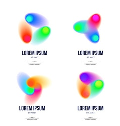 Set of Abstract Colorful Logo Design Template for vector image
