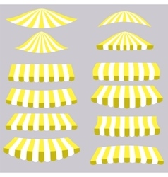Yellow tents vector