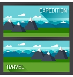 Banners with of mountain landscape in vector