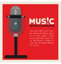 Music and microphone design vector