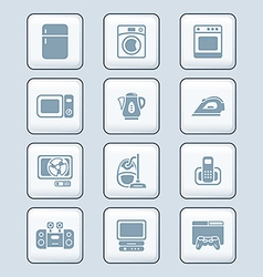 Home electronics icons vector image