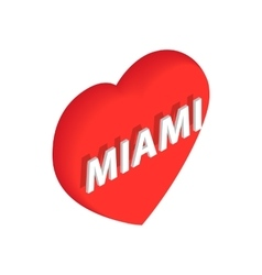 Love miami icon isometric 3d style vector