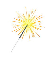 bengal light fire firework sparkler isolated vector image