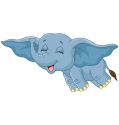 Cartoon elephant funny vector