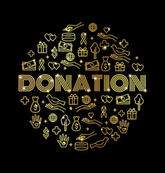 Charity and donations vector