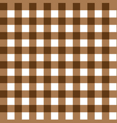 dark brown and light brown plaid fabric pattern vector image vector image