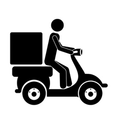 delivery man icon vector image