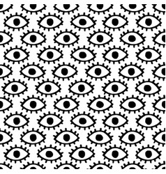 doodle eyes seamless pattern vector image