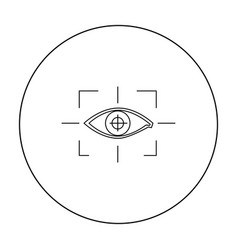 focus of eye in the virtual reality icon in vector image vector image
