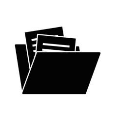 Folder document isolated icon vector