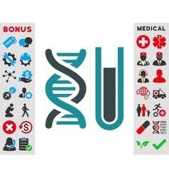 Genetic analysis icon vector