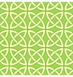 Green celtic pattern vector