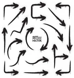 Grunge arrows set vector