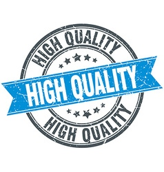 High quality blue round grunge vintage ribbon vector