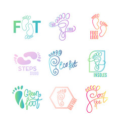 Logo of center of healthy feet vector