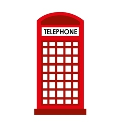 london telephone cab isolated icon design vector image