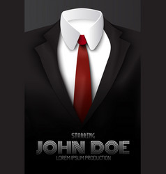 male business suit advertising poster vector image vector image