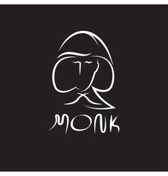 monk face outline vector image