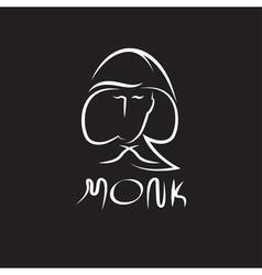 Monk face outline vector