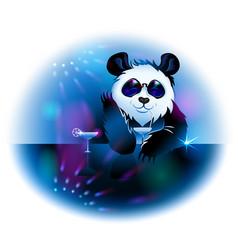 panda in pub vector image